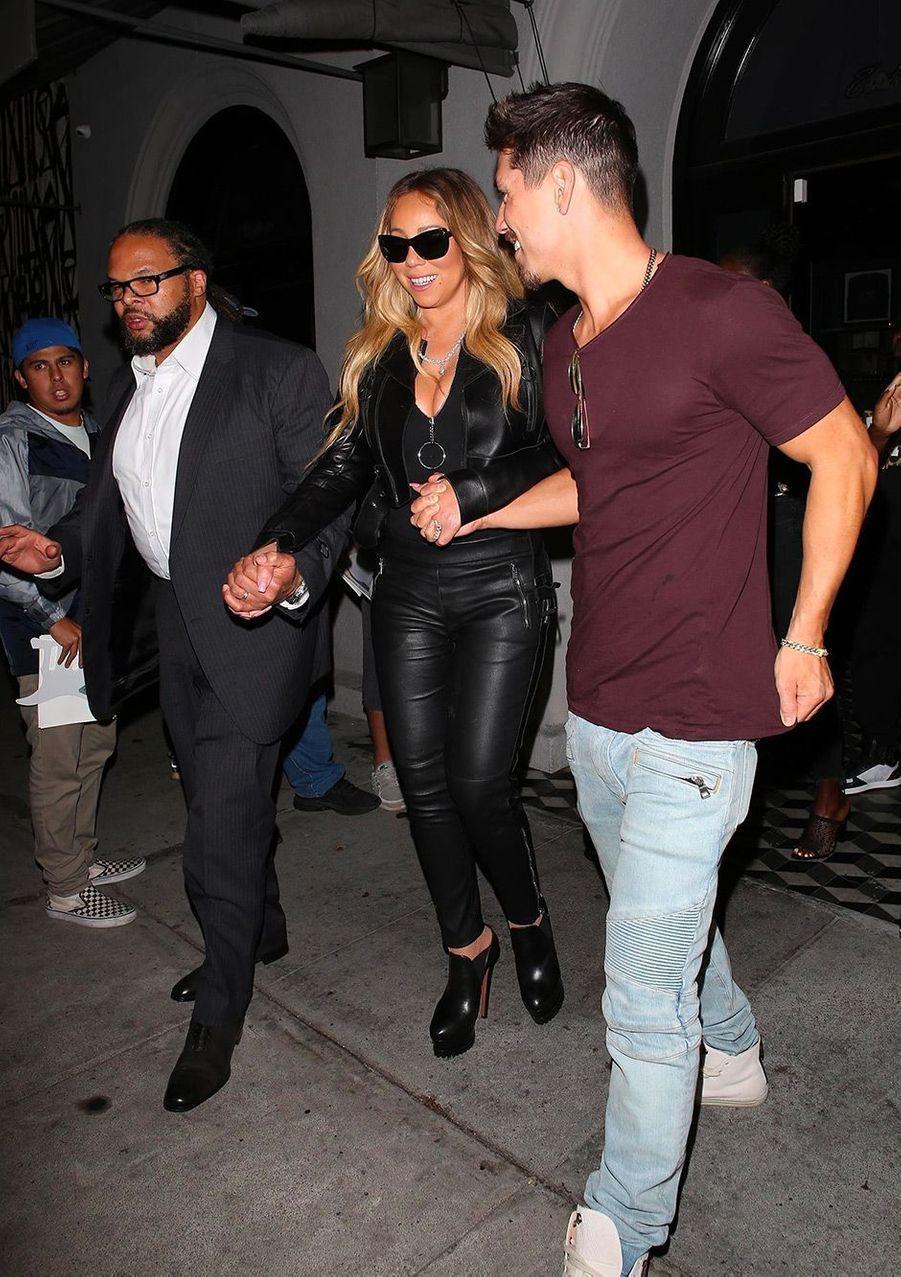 Mariah Carey et Bryan Tanaka au concert de Beyoncé et Jay Z, à Los Angeles, dimanche 23 septembre