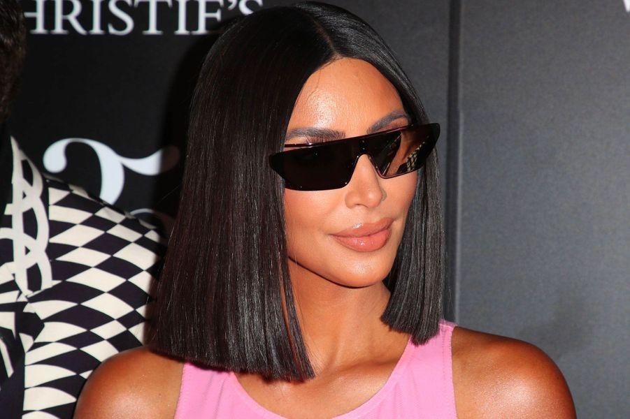 Kim Kardashian à la soirée Christie's, le 21 août 2018