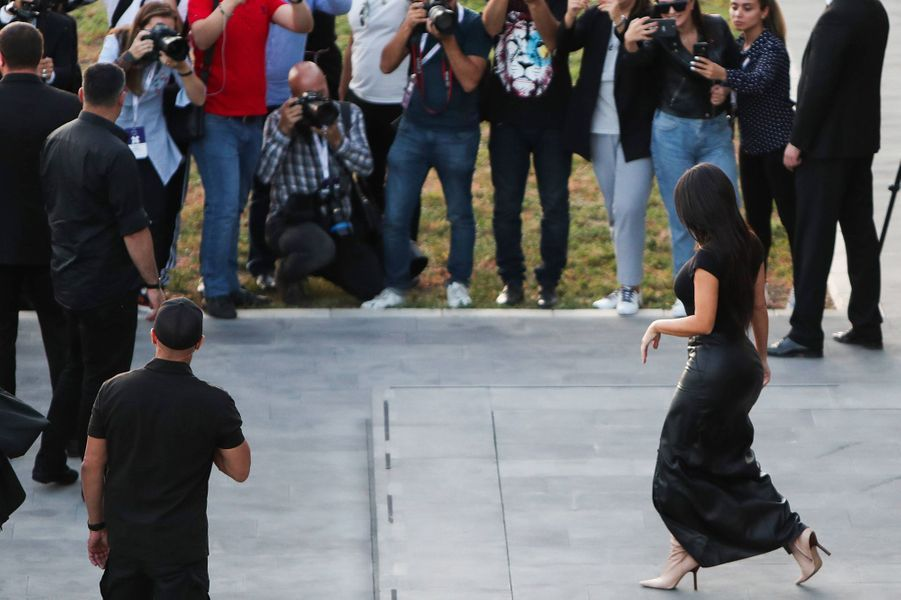 Kim Kardashian àErevan, en Arménie, le 8 octobre 2019
