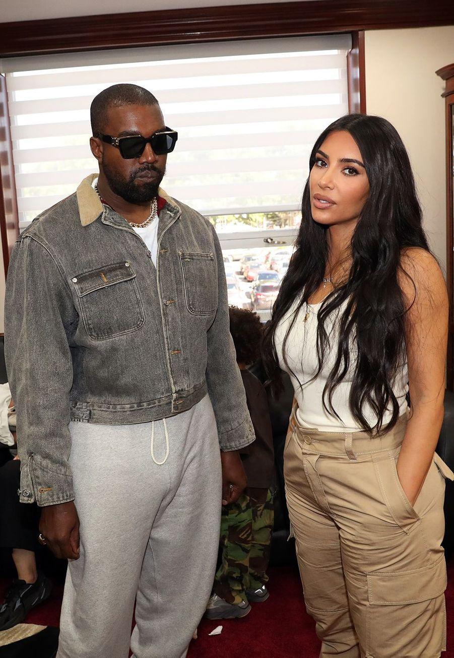 Kanye West et Kim Kardashian à New York le 29 septembre 2019