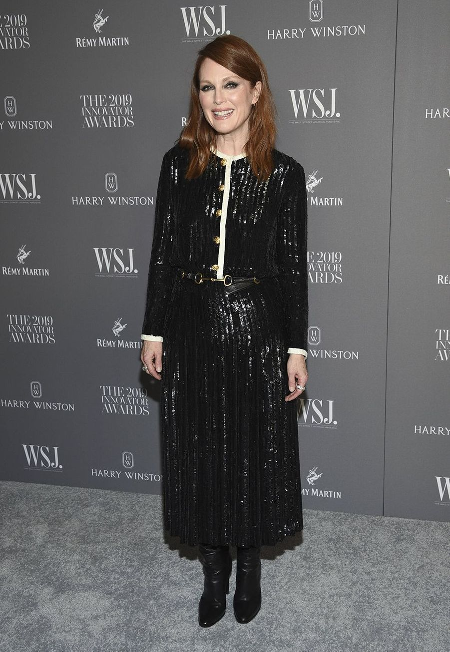 Julianne Moore à la 9e édition des WSJ. Magazine Innovator Awards à New York le 6 novembre 2019