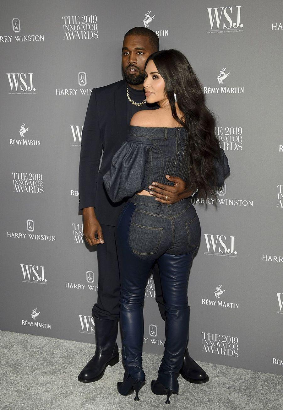 Kanye West et Kim Kardashianà la 9e édition des WSJ. Magazine Innovator Awards à New York le 6 novembre 2019