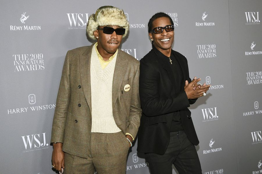 Tyler the Creator et Asap Rocky à la 9e édition des WSJ. Magazine Innovator Awards à New York le 6 novembre 2019