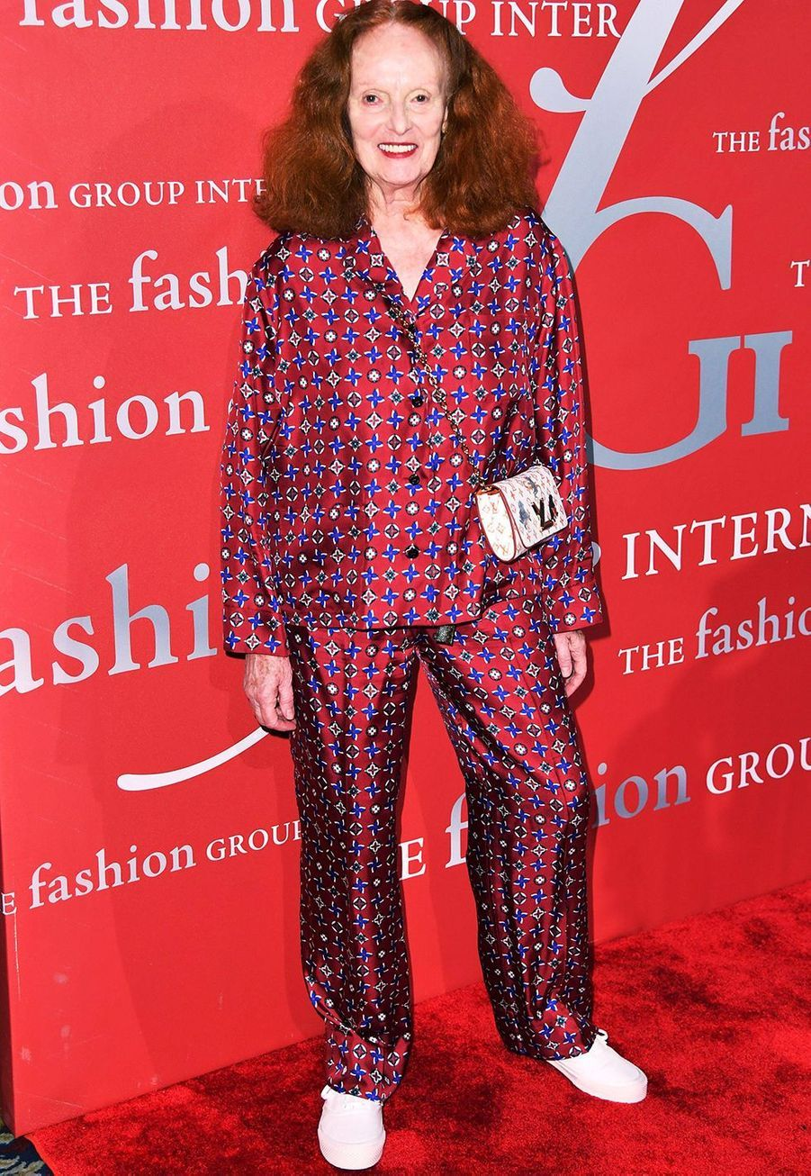 "Grace Coddington lors du gala ""The Night of Stars"" à New York le 24 octobre 2019."
