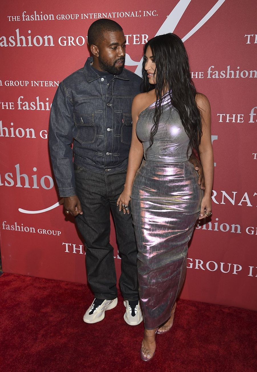 "Kim Kardashian et Kanye West lors du gala ""The Night of Stars"" à New York le 24 octobre 2019."
