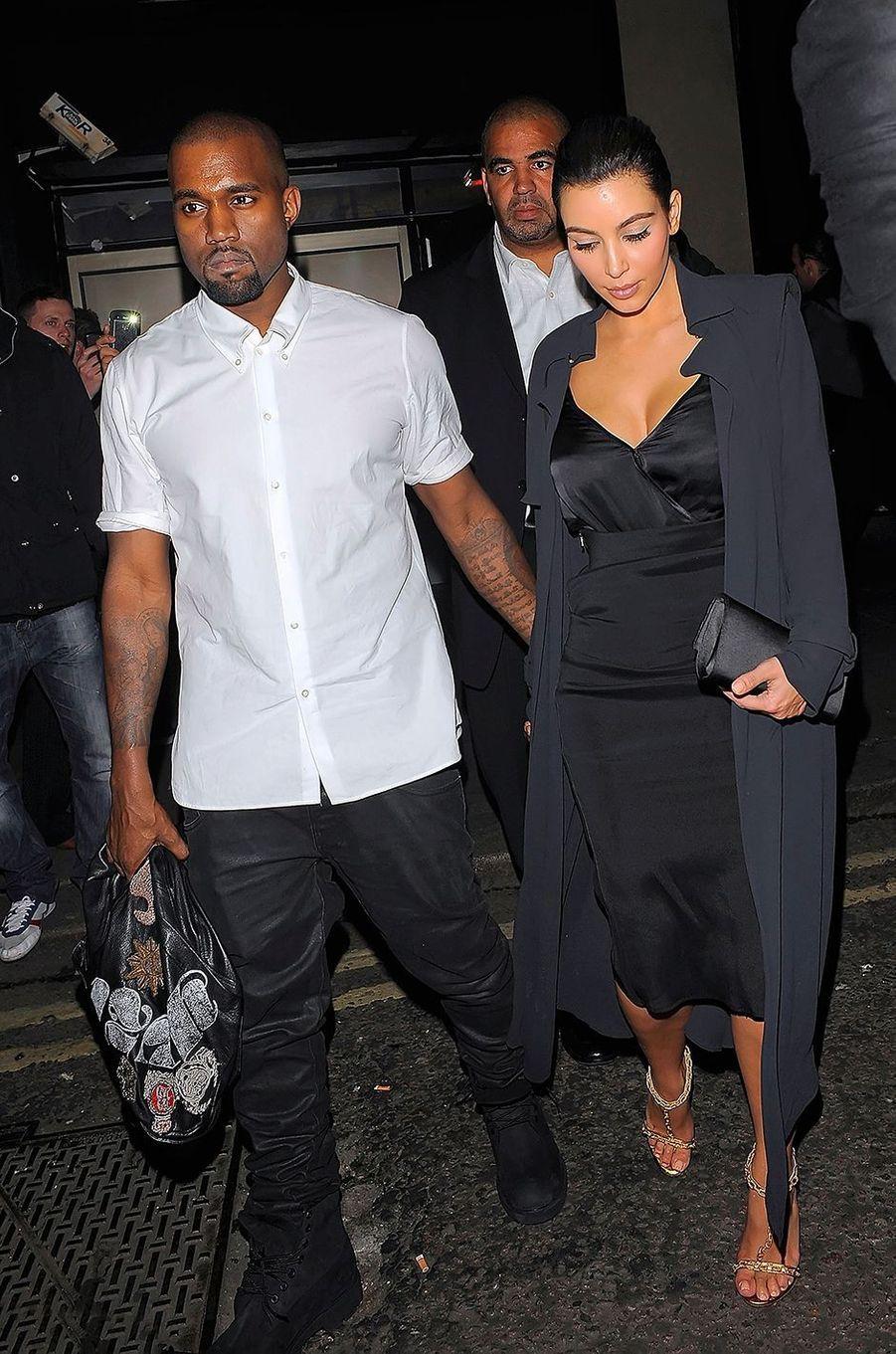 Kanye West et Kim Kardashian à Londres en mai 2012