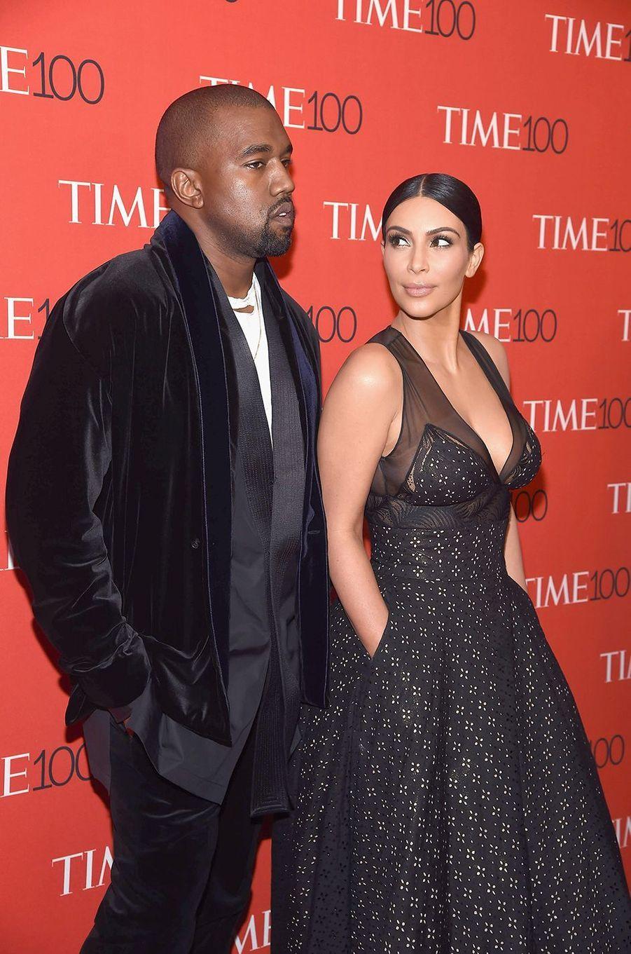 Kanye West et Kim Kardashian à la soirée «Time 100» à New York en avril 2015