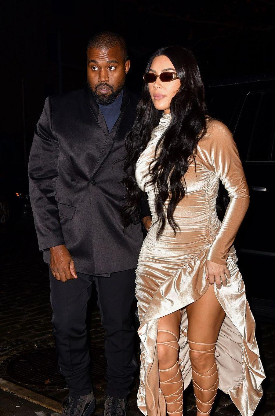 Kanye West et Kim Kardashian à New York en décembre 2019