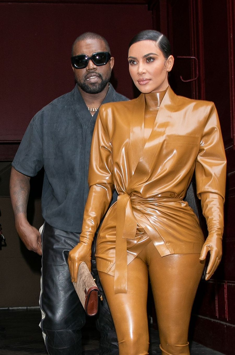 Kanye West et Kim Kardashian à Paris en mars 2020