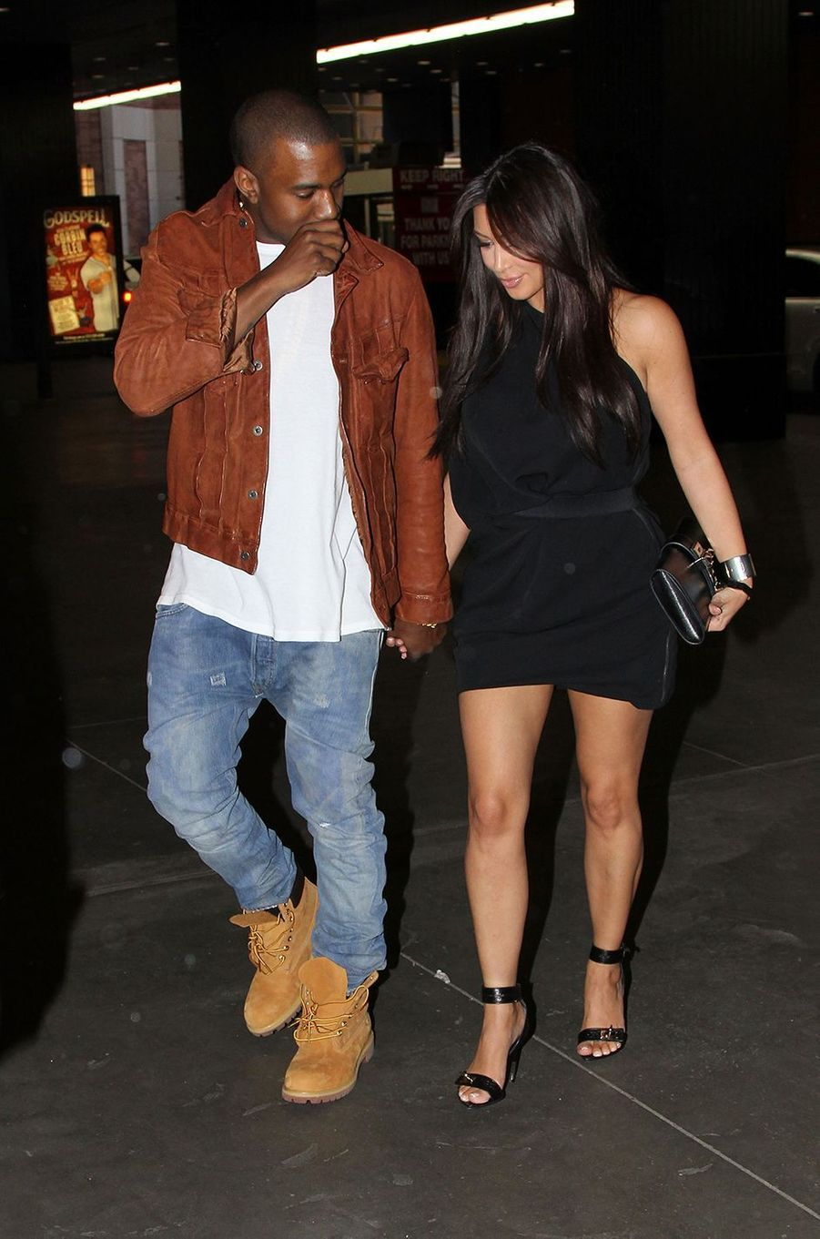 Kanye West et Kim Kardashian à New York en avril 2012