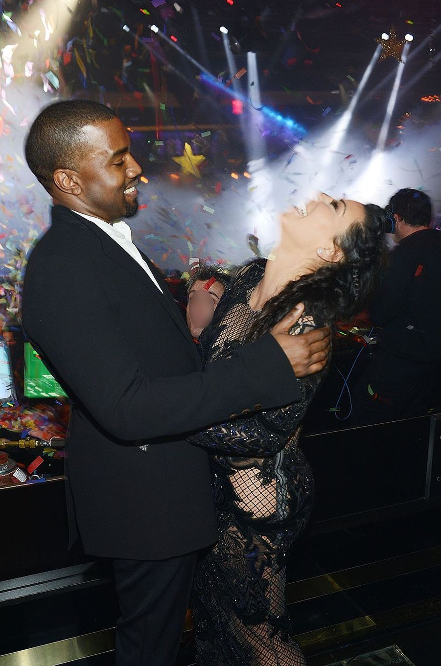 Kanye West et Kim Kardashian à Las Vegas lors du réveillon du Nouvel an en décembre 2012