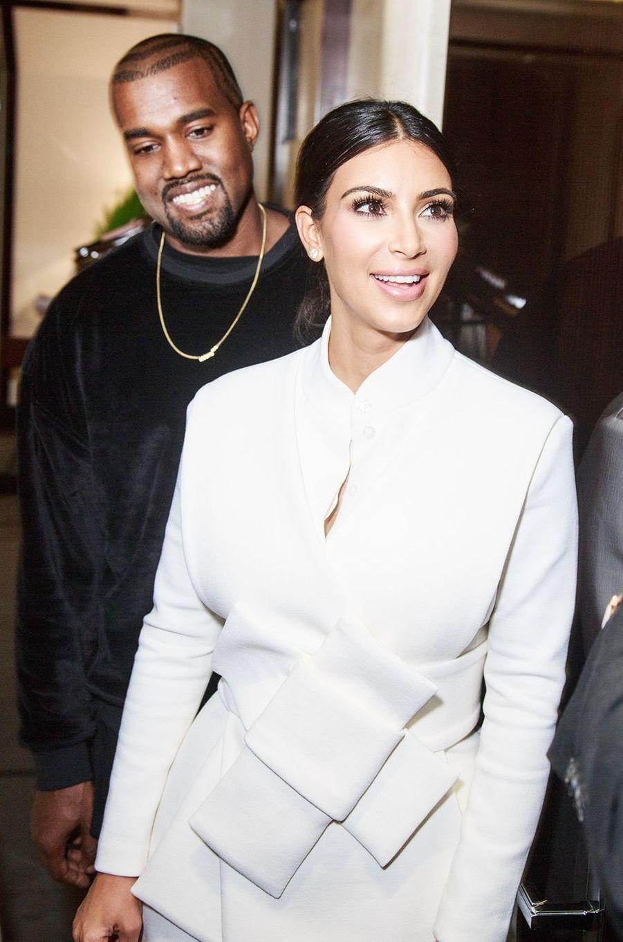 Kanye West et Kim Kardashian à Paris en septembre 2014