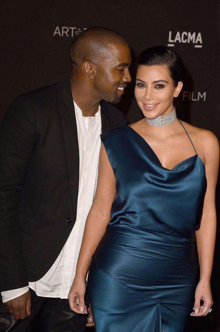 Kanye West et Kim Kardashian au gala du LACMA à Los Angeles en novembre 2014