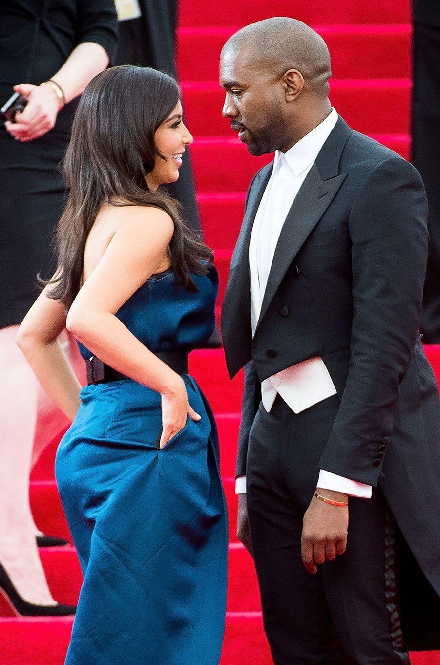 Kim Kardashian et Kanye West au gala du MET à New York en mai 2014