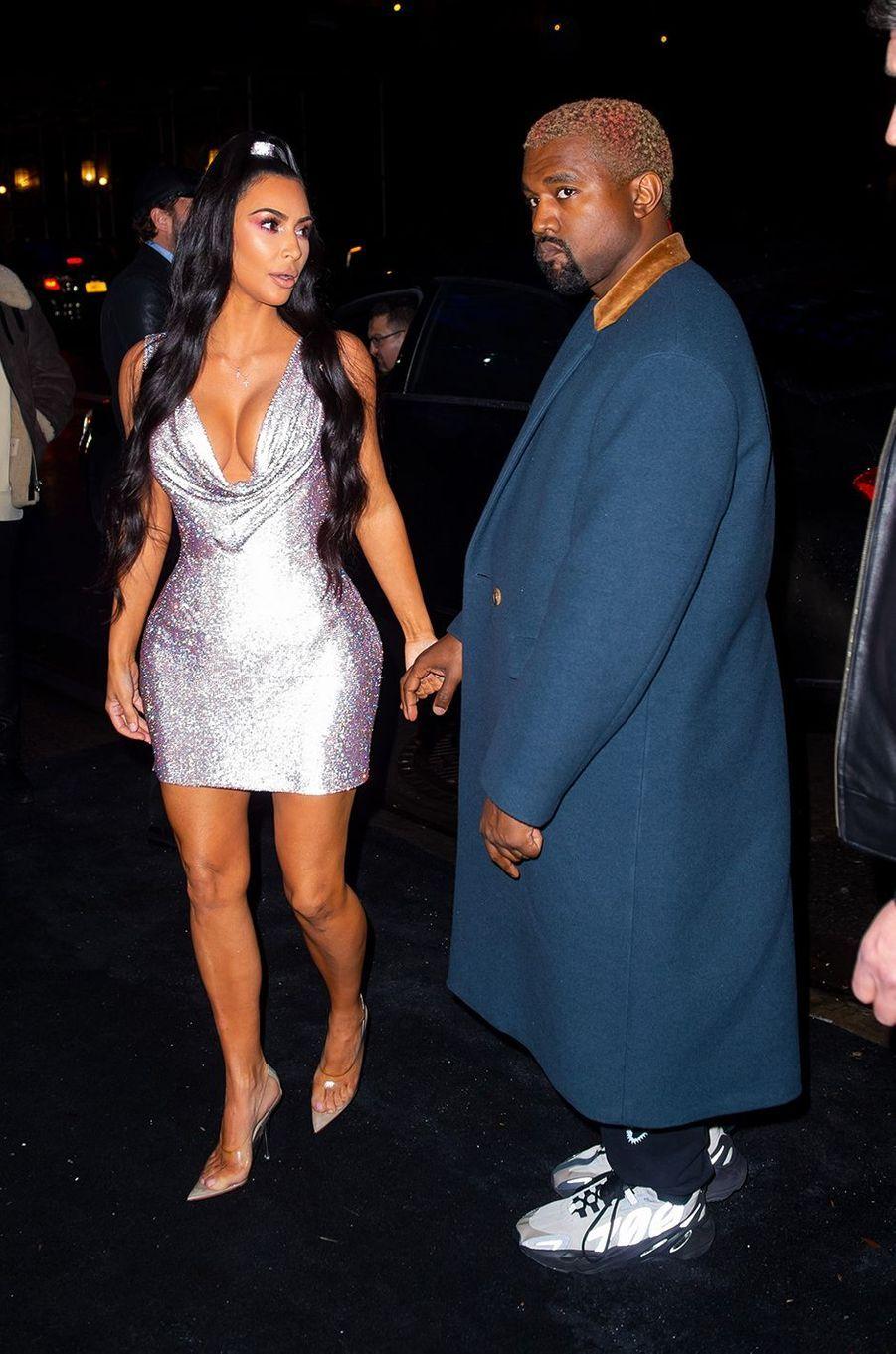 Kim Kardashian et Kanye West à New York en décembre 2018