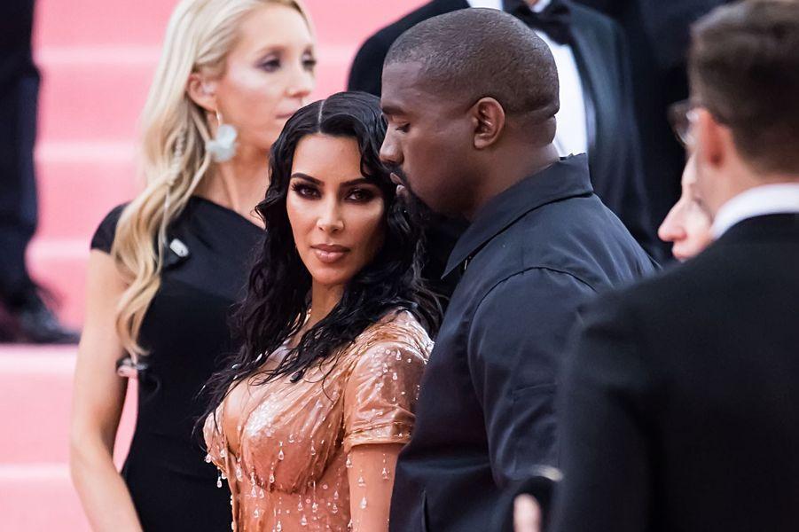 Kim Kardashian et Kanye West au gala du MET à New York en mai 2019