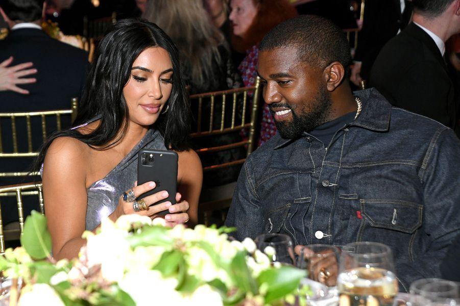 Kim Kardashian et Kanye West lors d'un gala à New York en octobre 2019