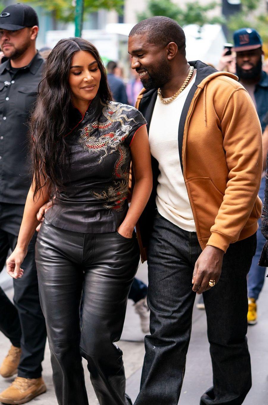 Kim Kardashian et Kanye West à New York en octobre 2019