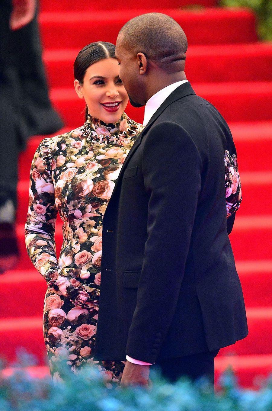 Kim Kardashian et Kanye West au gala du MET à New York en mai 2013