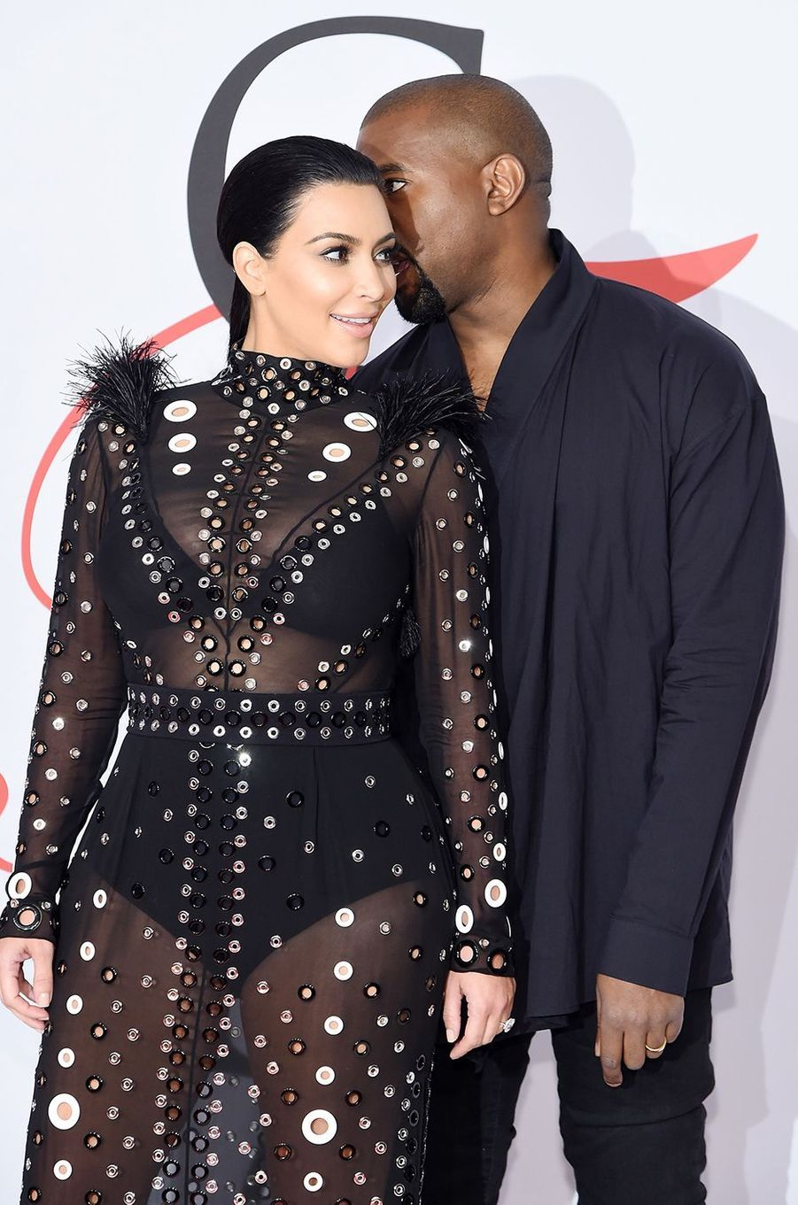 Kim Kardashian et Kanye West aux CFDA Fashion Awards à New York en juin 2015