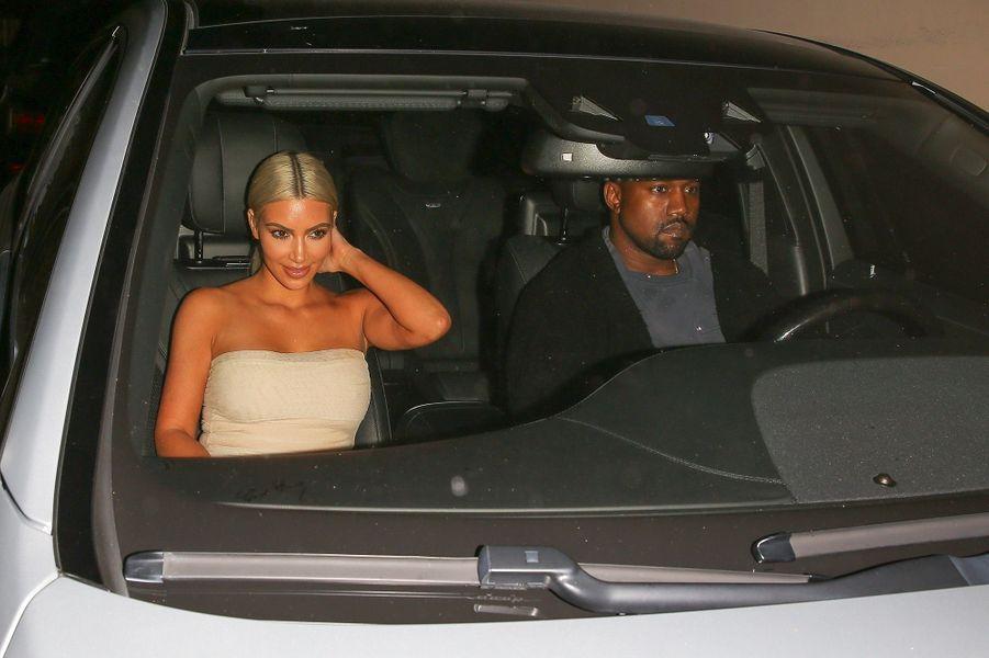 Kim Kardashian et Kanye West à Los Angeles, le 12 septembre 2017.
