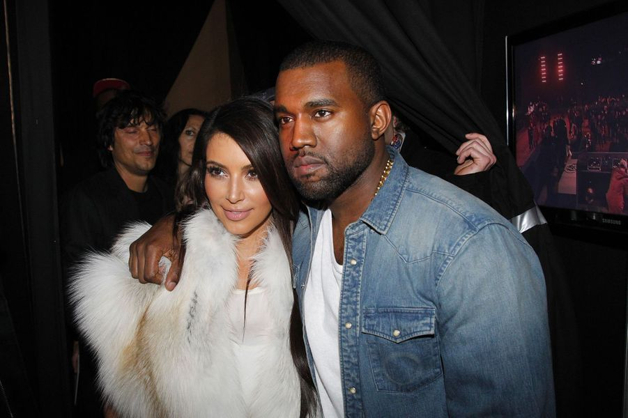 Kim Kardashian et Kanye West en mars 2012