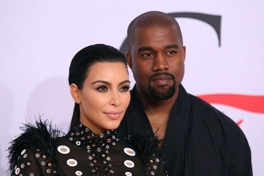 Kim Kardashian et Kanye West en juin 2015