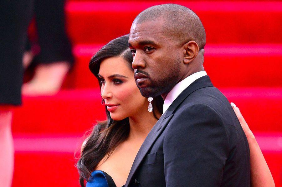 Kim Kardashian et Kanye West en mai 2014