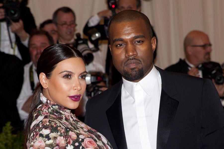 Kim Kardashian et Kanye West en mai 2013