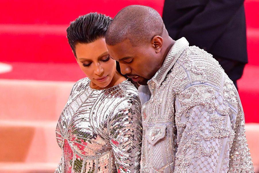 Kim Kardashian et Kanye West en mai 2016