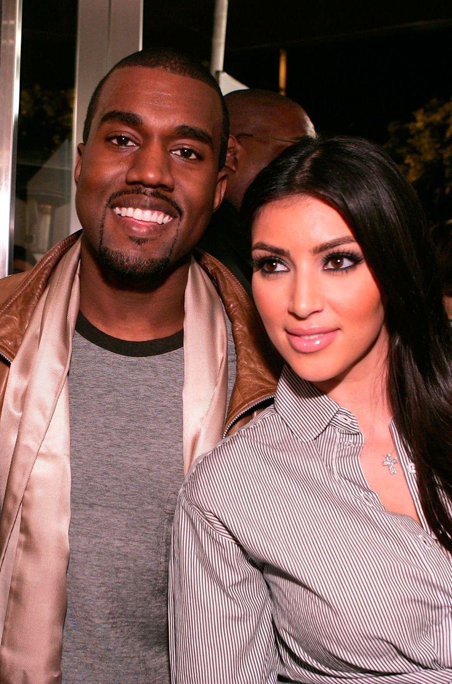 Kim Kardashian et Kanye West en septembre 2007