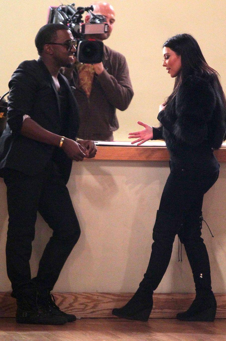 Kim Kardashian et Kanye Westen octobre 2010