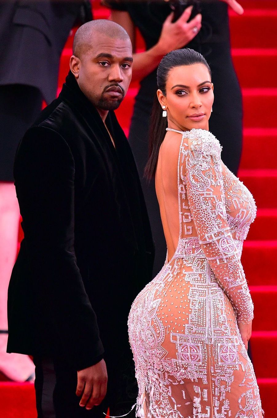 Kim Kardashian et Kanye West en mai 2015