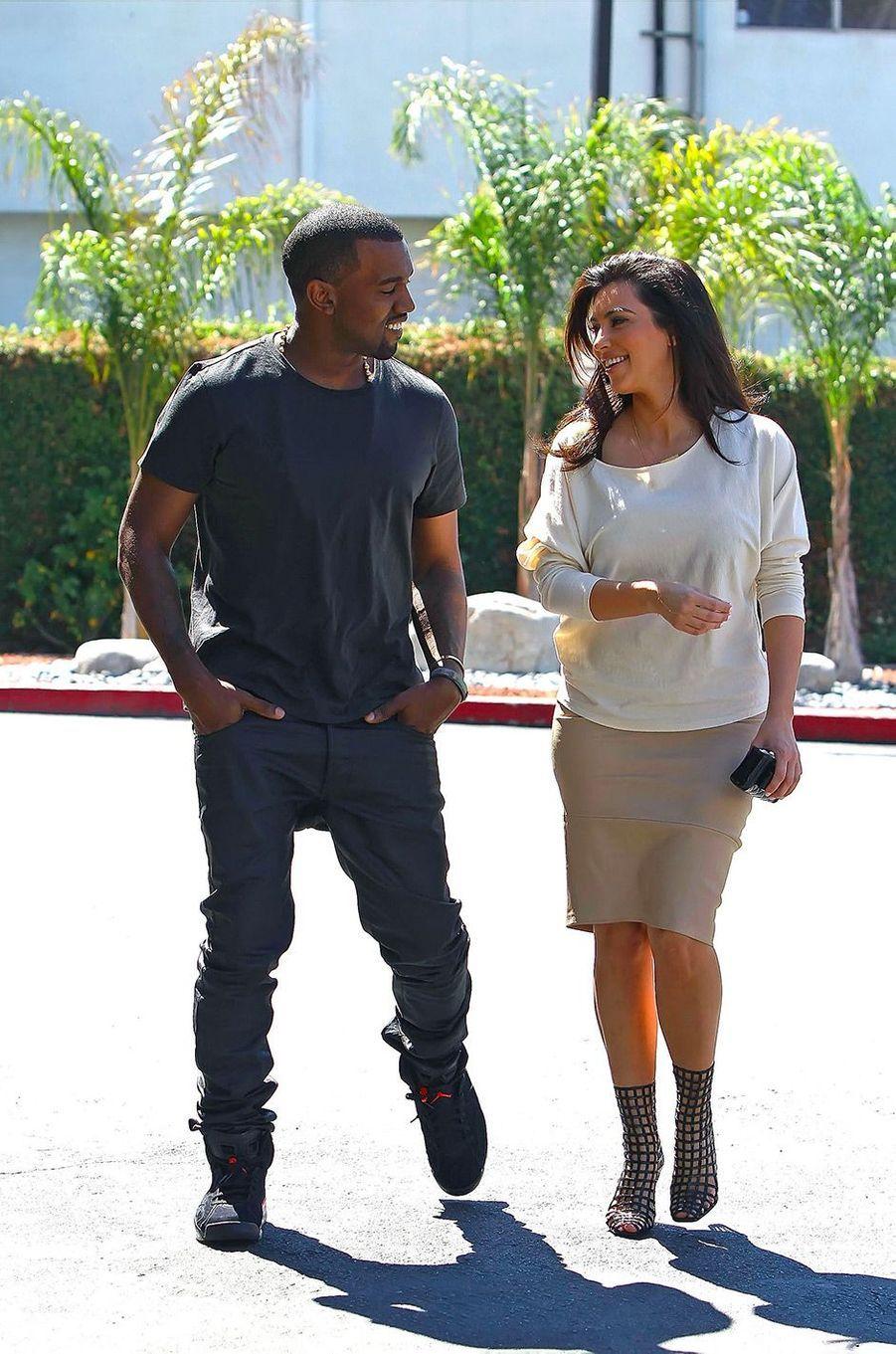 Kim Kardashian et Kanye West en juillet 2012