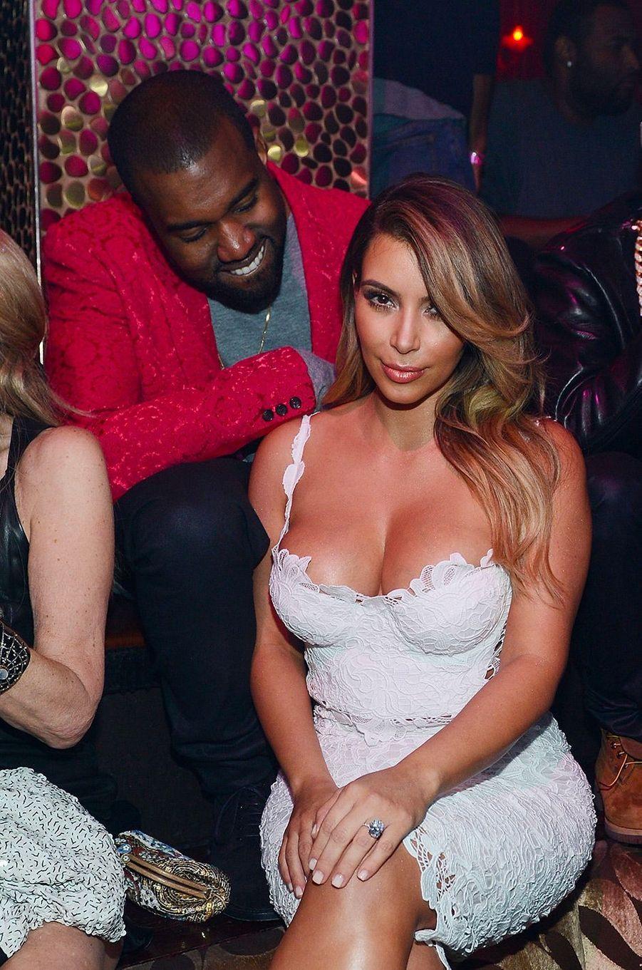 Kim Kardashian et Kanye West en octobre 2013
