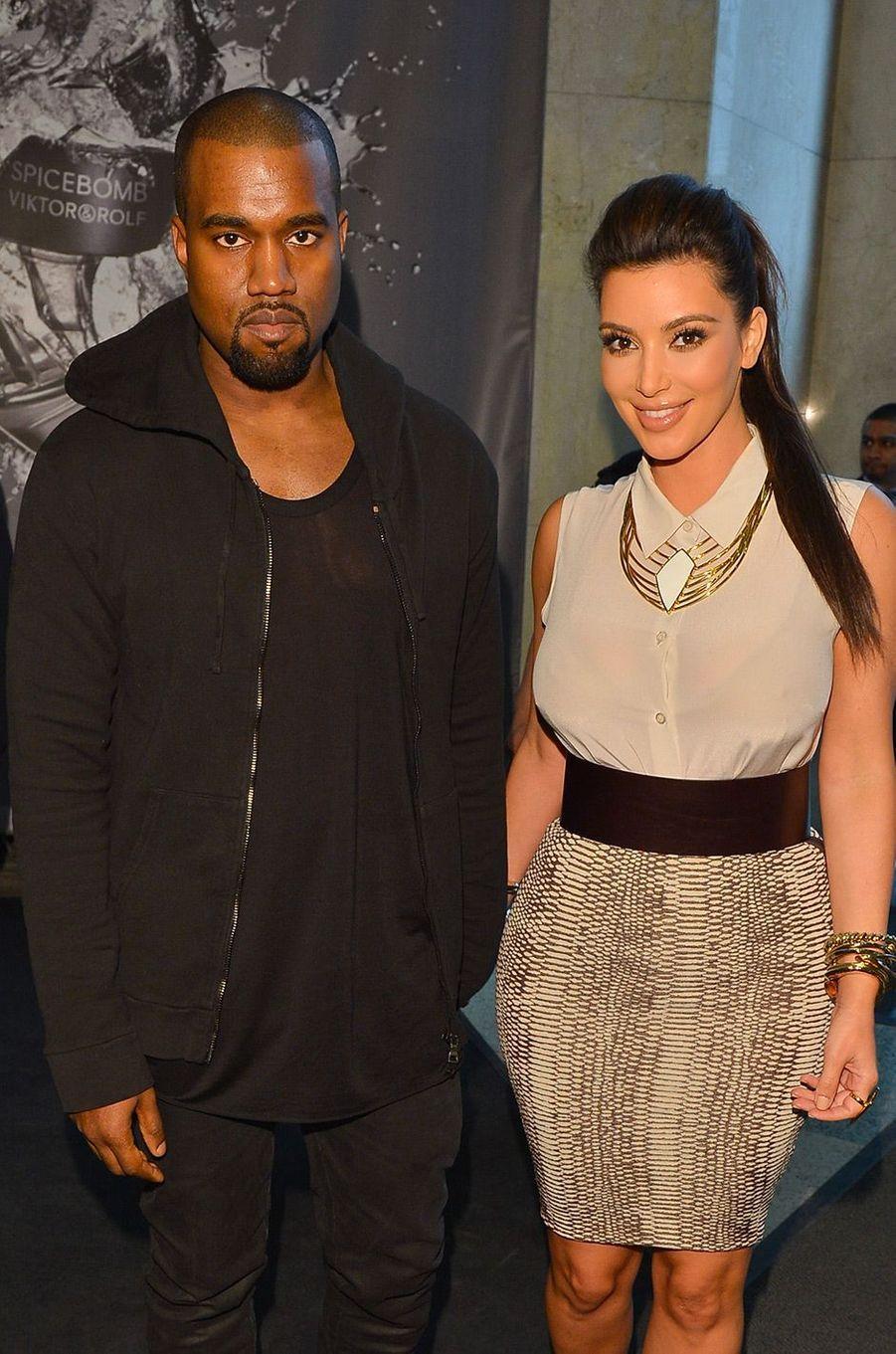 Kim Kardashian et Kanye West en mai 2012