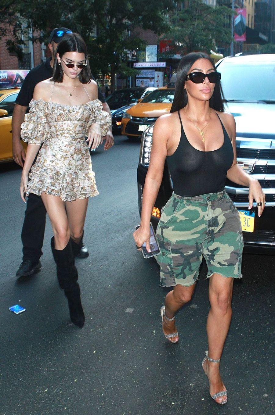 Kim Kardashian et Kendall Jenner à New York