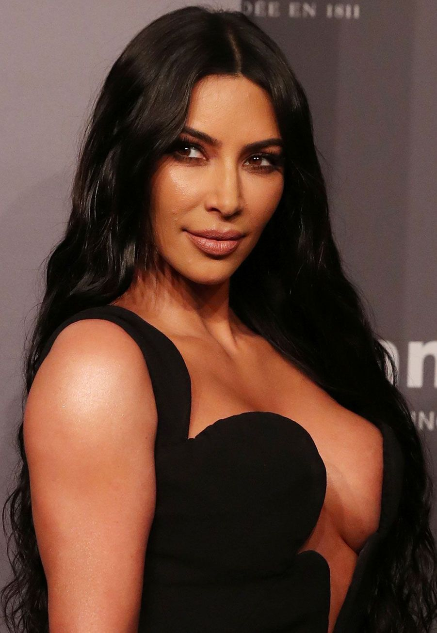 Kim Kardashian au gala de l'AmfAR mercredi à New York