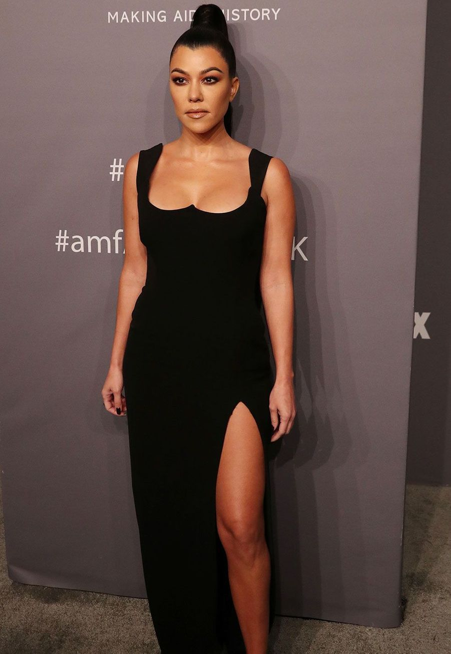 Kourtney Kardashian au gala de l'AmfAR mercredi à New York