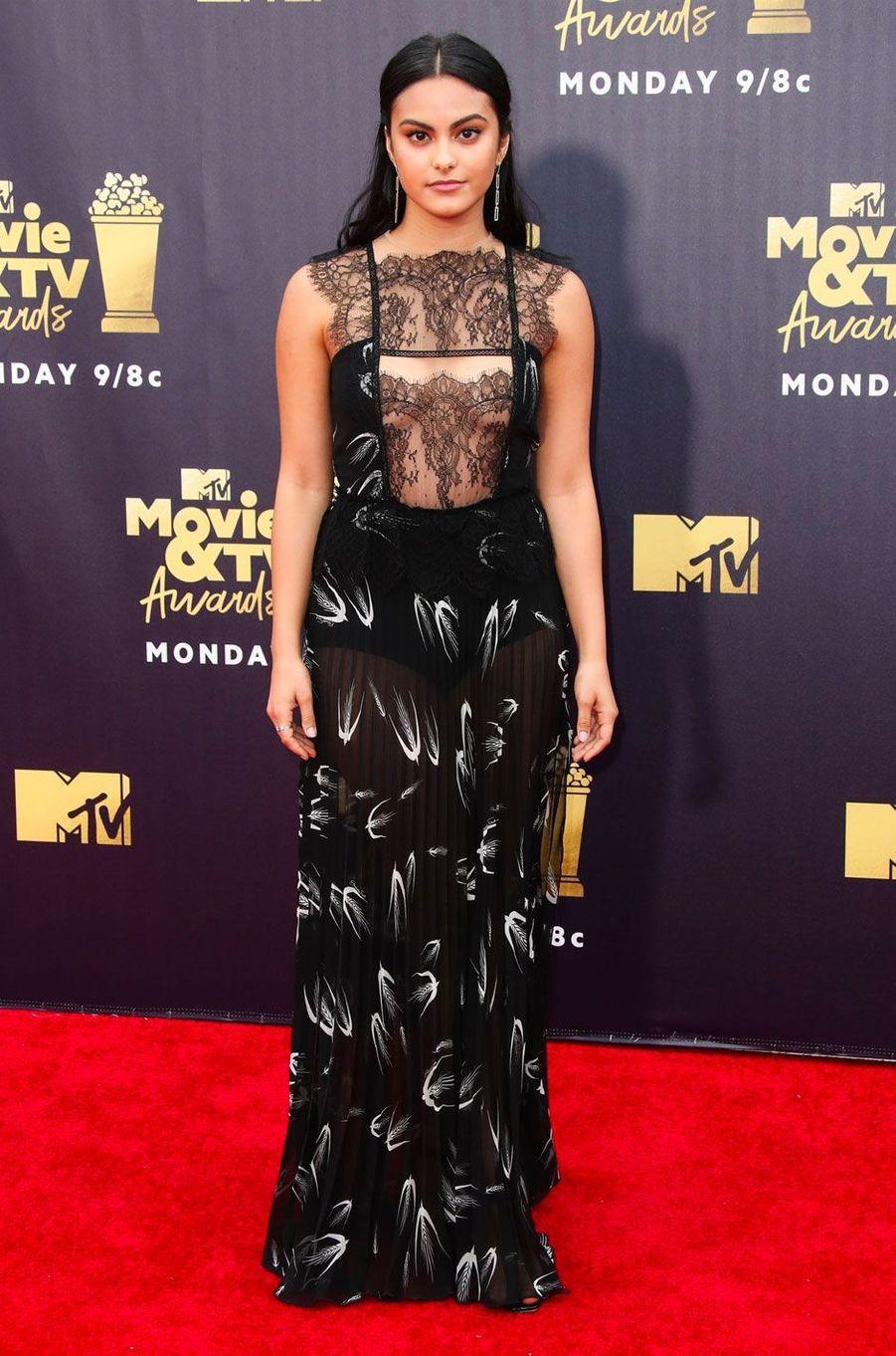 Camila Mendes aux MTV Movie Awards le 16 juin 2018