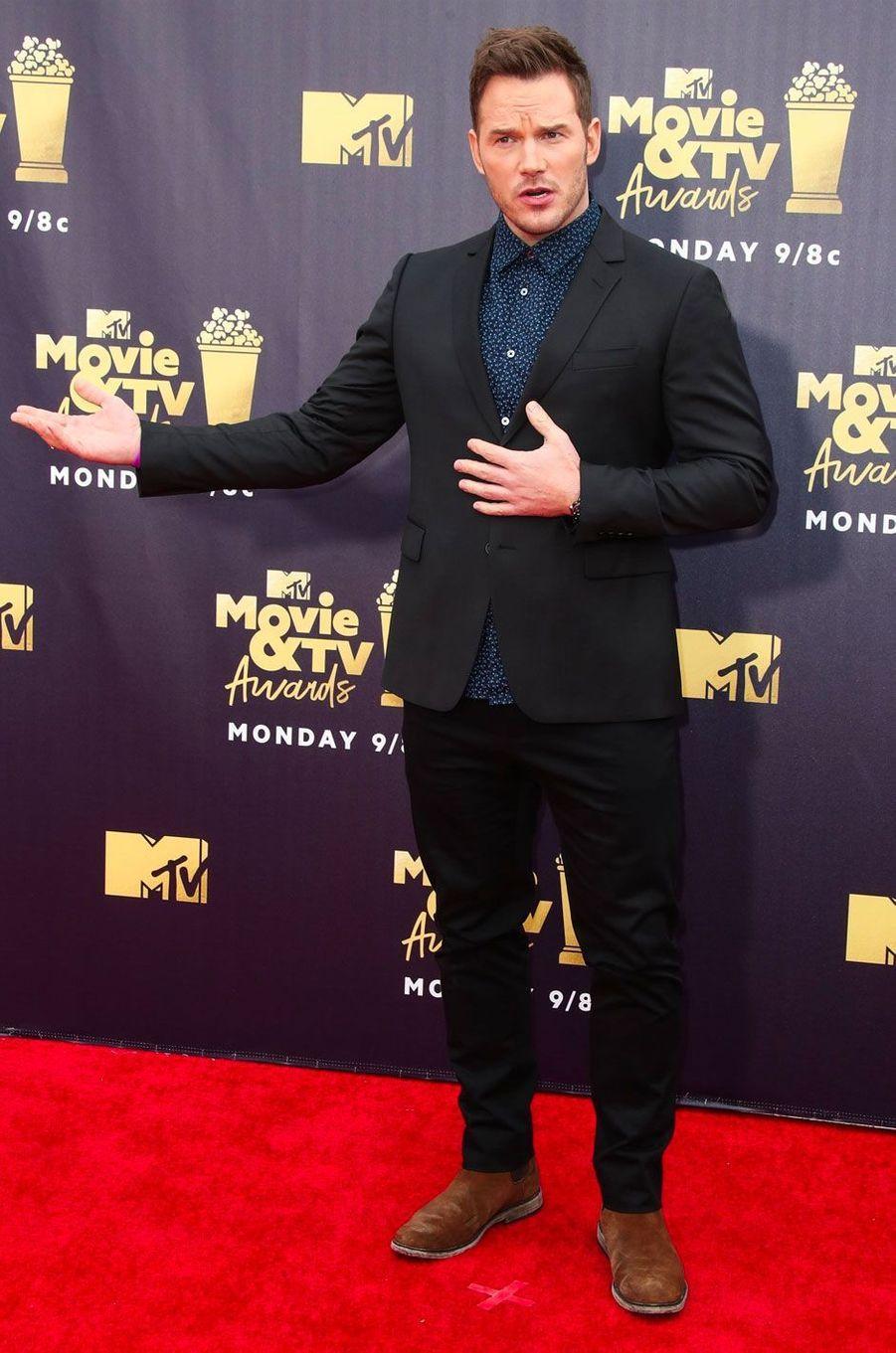 Chris Pratt aux MTV Movie Awards le 16 juin 2018