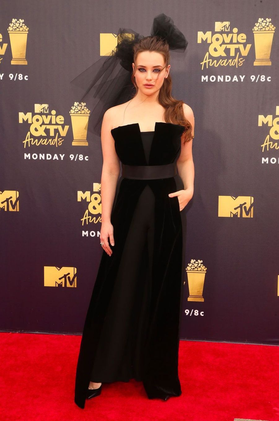Katherine Langford aux MTV Movie Awards le 16 juin 2018