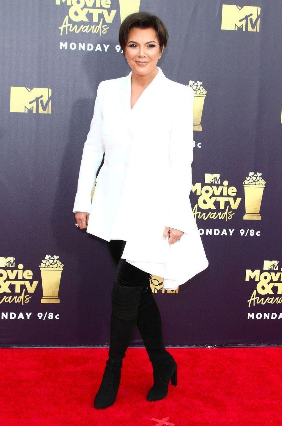Kris Jenner aux MTV Movie Awards le 16 juin 2018