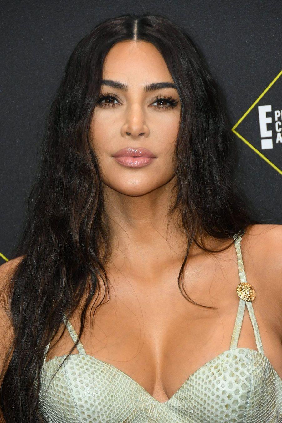 Kim Kardashian à la 45ème cérémonie des People's Choice Awards, à Santa Monica (Californie), le 10 novembre 2019.