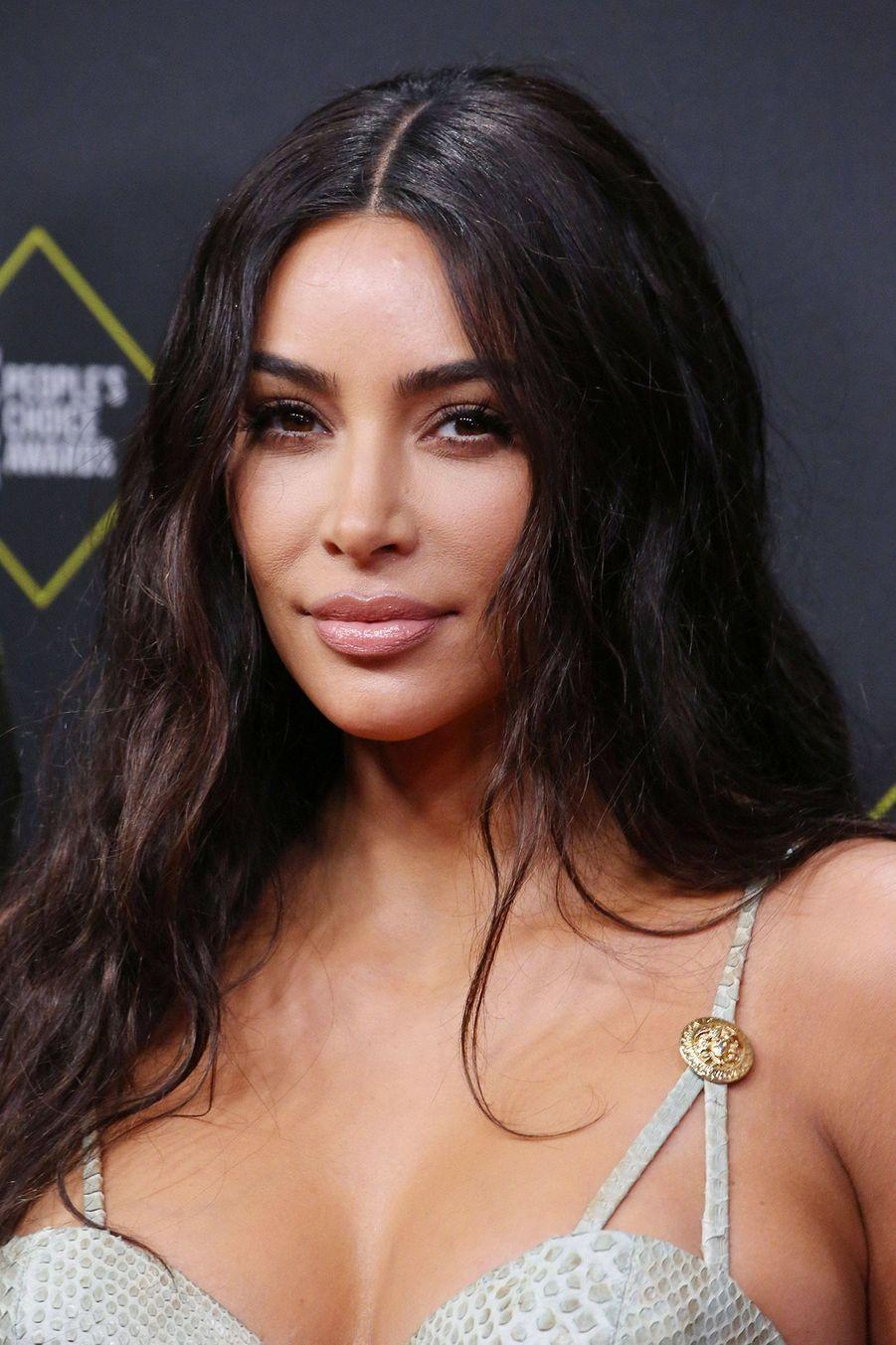 Kim Kardashian à la 45èmecérémonie des People's Choice Awards, à Santa Monica (Californie), le 10 novembre 2019.
