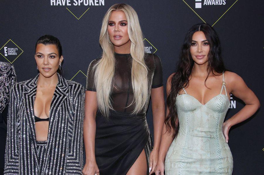 Les Kardashian à la 45èmecérémonie des People's Choice Awards, à Santa Monica (Californie), le 10 novembre 2019.