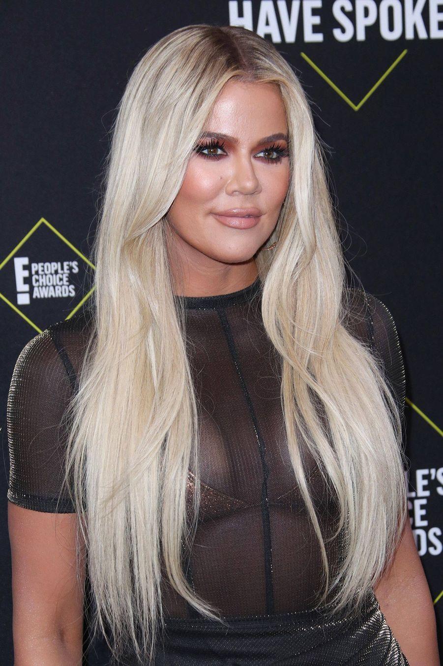 Khloe Kardashian à la 45èmecérémonie des People's Choice Awards, à Santa Monica (Californie), le 10 novembre 2019.