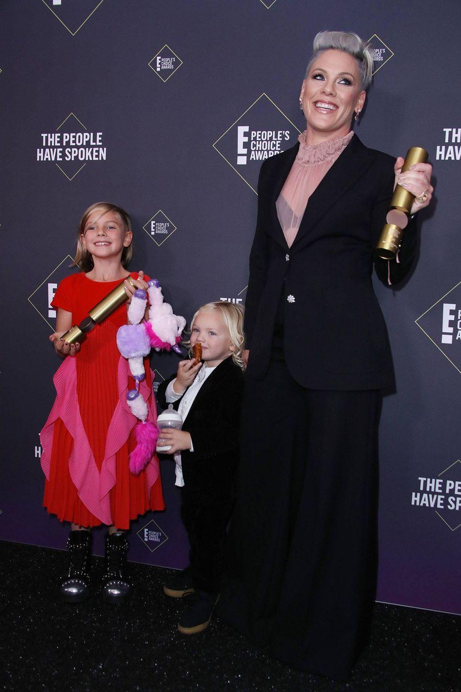 Pink àla 45èmecérémonie des People's Choice Awards, à Santa Monica (Californie), le 10 novembre 2019.