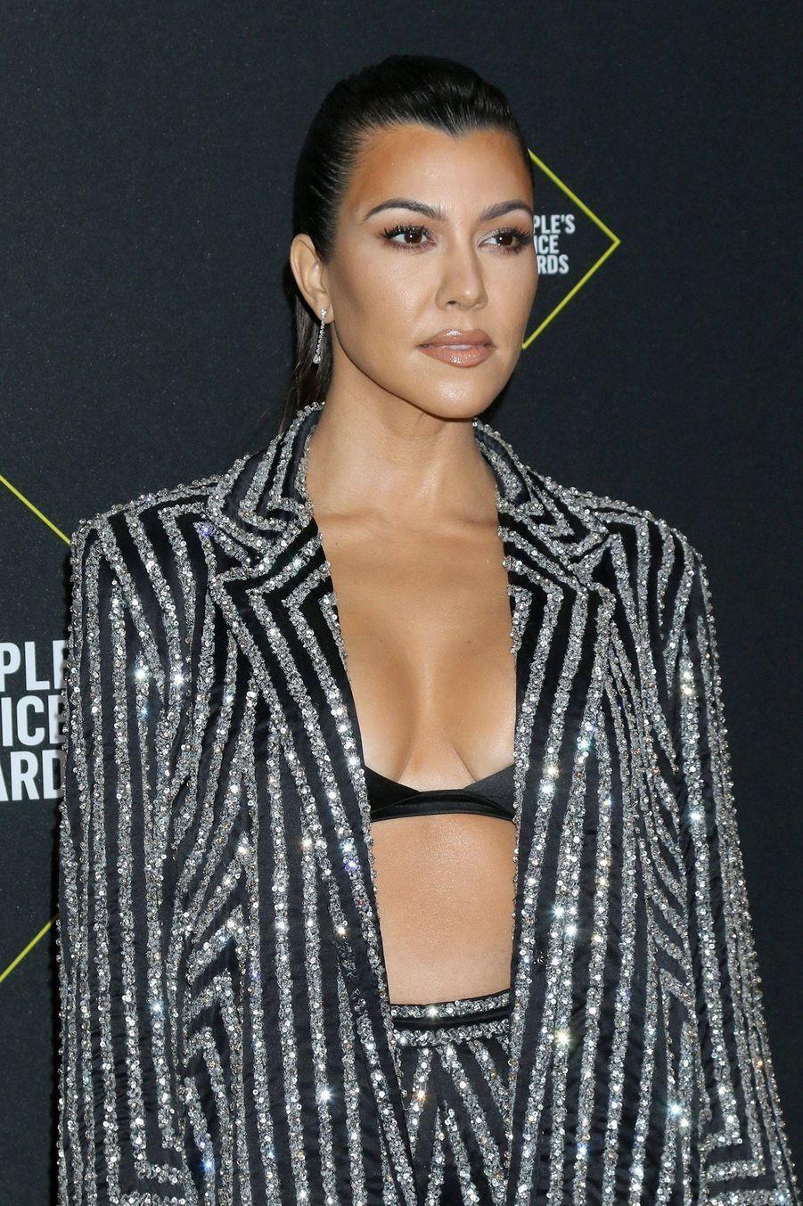 Kourtney Kardashian à la 45èmecérémonie des People's Choice Awards, à Santa Monica (Californie), le 10 novembre 2019.