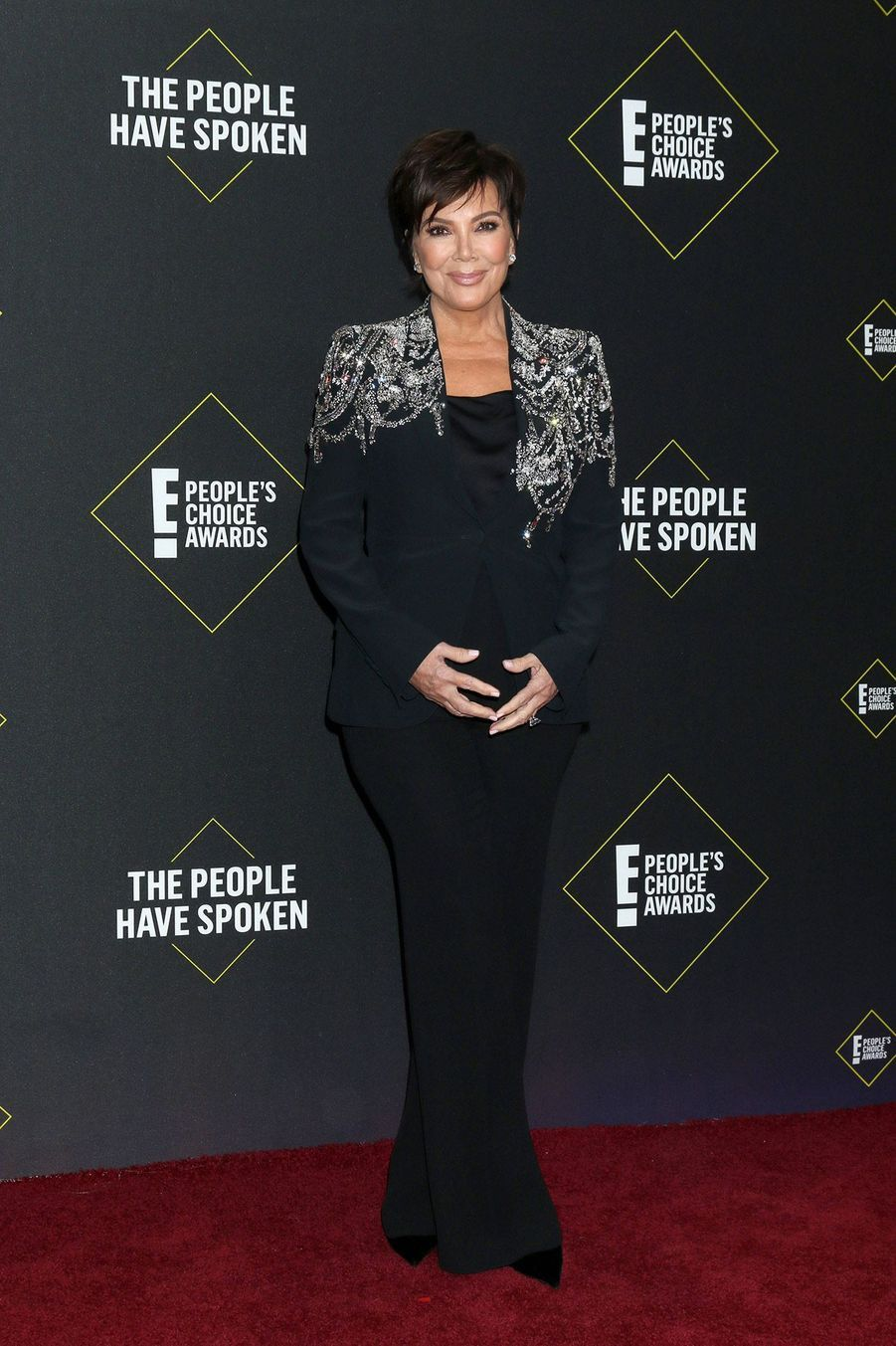 Kris Jenner à la 45ème cérémonie des People's Choice Awards, à Santa Monica (Californie), le 10 novembre 2019.